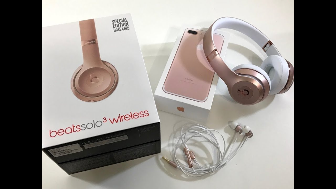 1337d1e1555 beats Solo3 Wireless Unboxing - Rose Gold Special Edition - YouTube