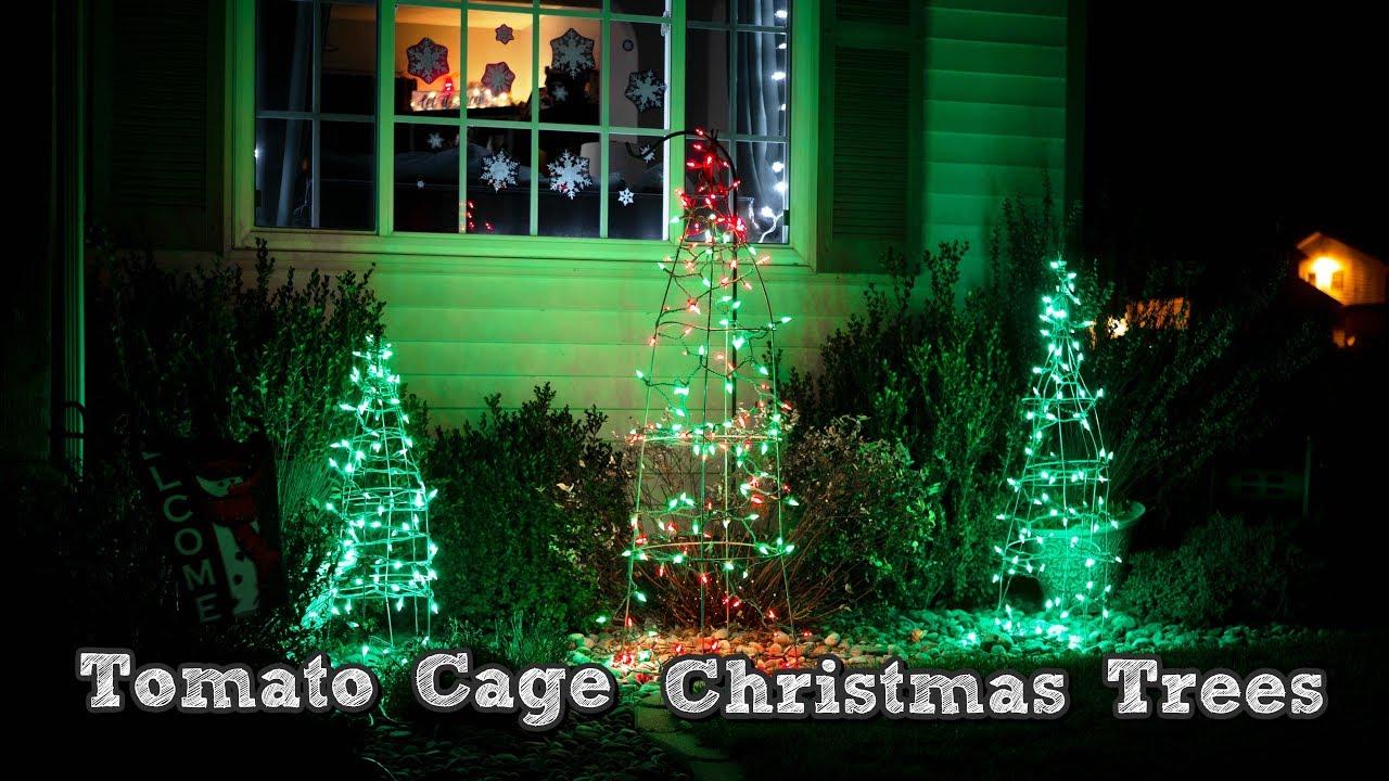 Tomato Cage Christmas Trees.Diy Christmas Decorations Tomato Cage Christmas Tree