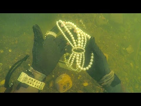 Found Jewelry Underwater in River While Scuba Diving for Los