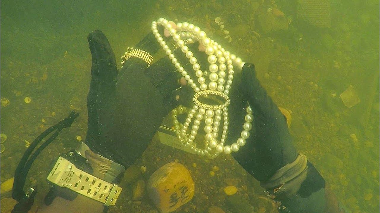 e28f3347fe1c Found Jewelry Underwater in River While Scuba Diving for Lost Valuables!  (Unbelievable)
