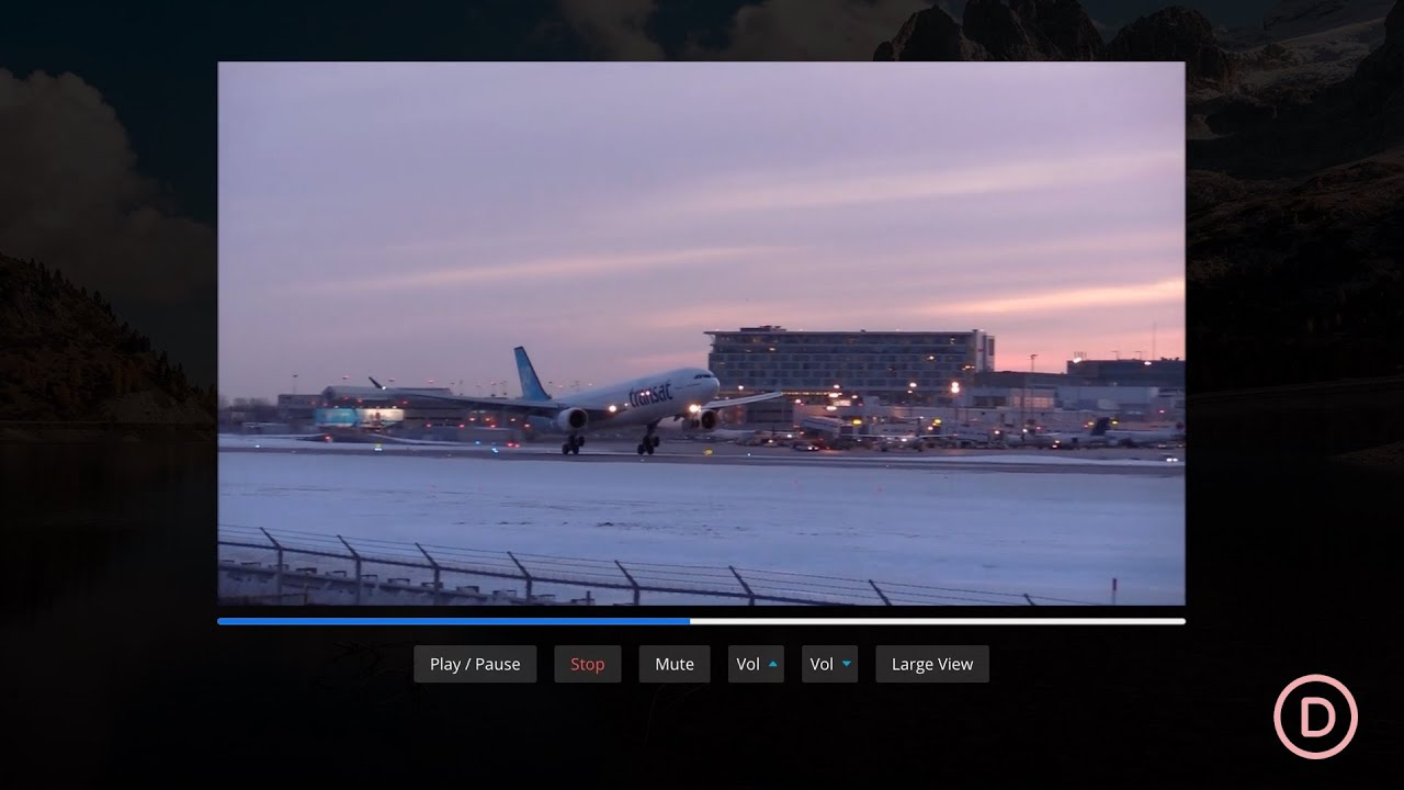 How to Create Custom HTML5 Video Controls for a Video in Divi