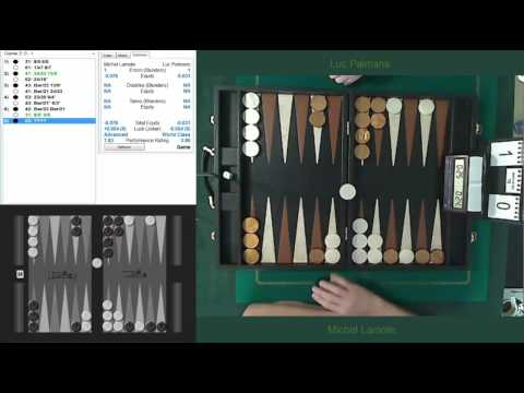 Backgammon match with commentary and analysis: Final Belgian Individual Championship 2015