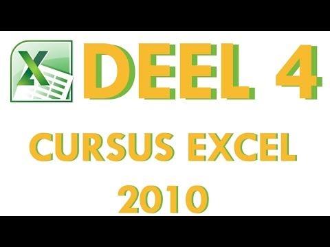 Cursus Excel 2010 Deel 4: Werkmappen ontwerpen in Excel 2010