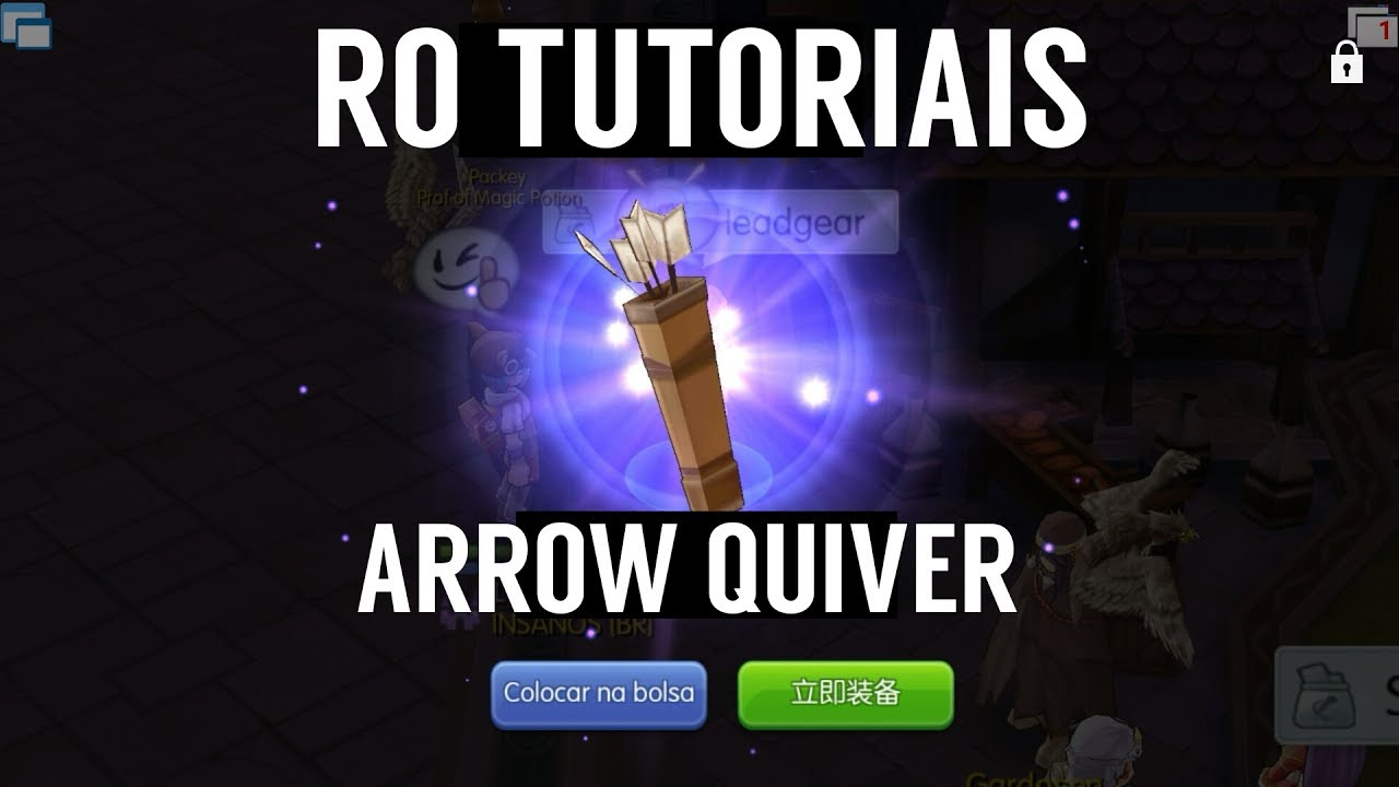 Ragnarok mobile ARROW QUIVER Quest Sniper PT-BR