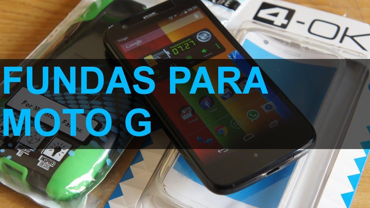 7f39e7030f2 Fundas para Motorola Moto G en Español - YouTube