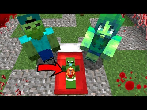 BABY ZOMBIE GETS ILL AND ALMOST DIES !! MARK FRIENDLY ZOMBIE HELPS ME SAVE HIM !! Minecraft Mods