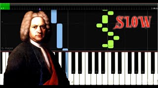 Bach - Invention 12  BWV 783 - Easy Piano Music - SLOW