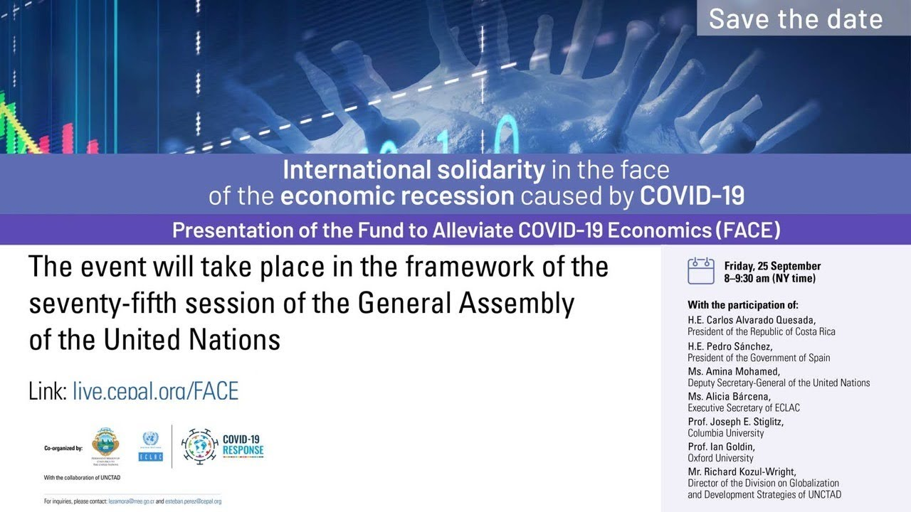 International solidarity in the face of the economic recession caused by COVID-19