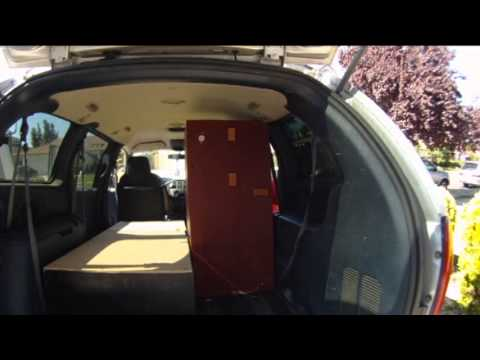 Mini van converted to camper van V1 - YouTube
