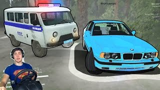 ПОГОНЯ ЗА СТАРОЙ БМВ в SPINTIRES + РУЛЬ Logitech Driving Force GT