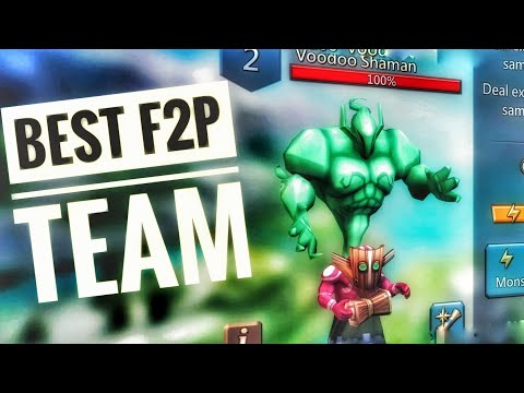 Lords Mobile - Best F2P Voodoo Shaman Monster Hunting Team