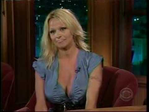 Pamela Anderson on Late Late Show