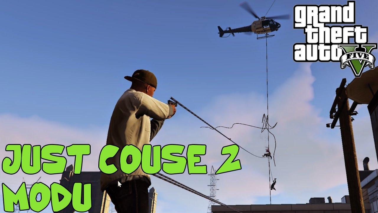 GTA V Modları - Just Cause 2 Hook Modu