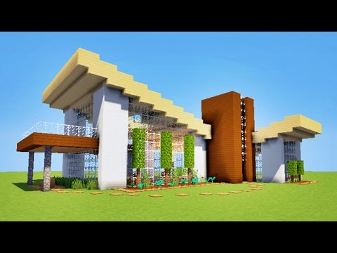Minecraft comment faire une maison moderne originale for Modele maison minecraft