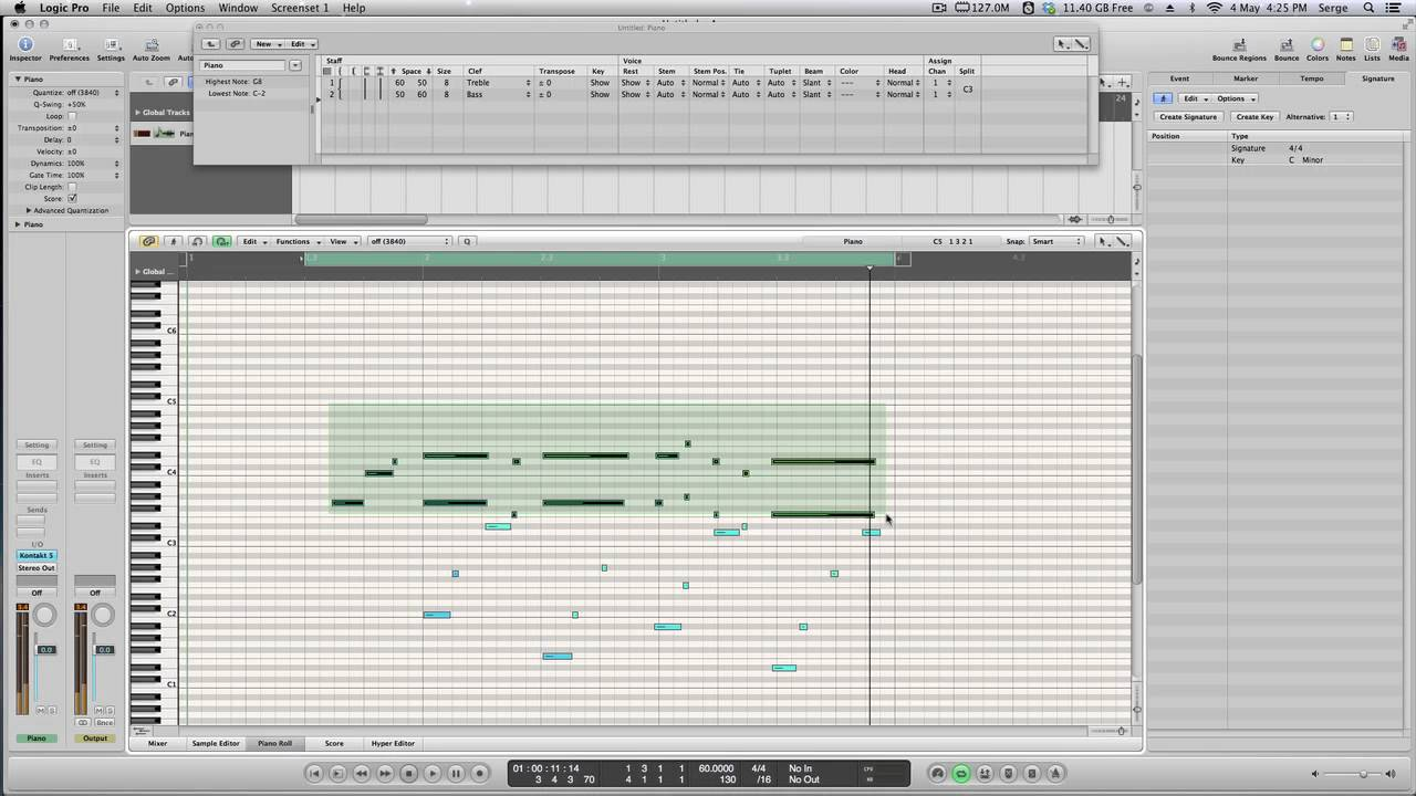 Creating A Piano Score Sheet Music In Logic Pro 2 Methods Youtube