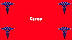 Pronounce Medical Words ― Cipro