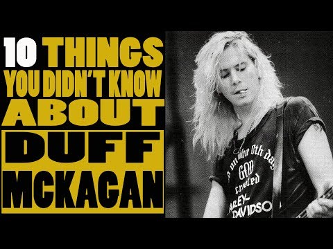 10 Things you didn't know about Duff McKagan of Guns N Roses