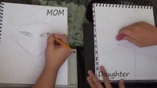 DRAW-OFF! Mom and daughter draw Disney Princesses. YOU JUDGE!