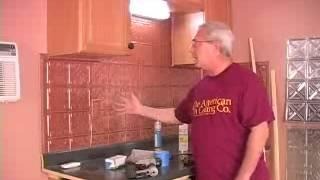 Introduction to Installing a Tin Backsplash
