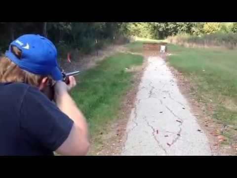 Pedersoli Baker coach gun at the range by Adam Heitland