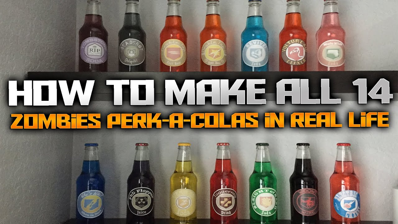 How To Make All 14 CALL OF DUTY: ZOMBIES Perk-a-Colas in Real Life | World at War, Black Ops 1,2,3