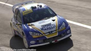 Peugeot 206 WRC Rally HUGE Anti-Lag Backfire!!