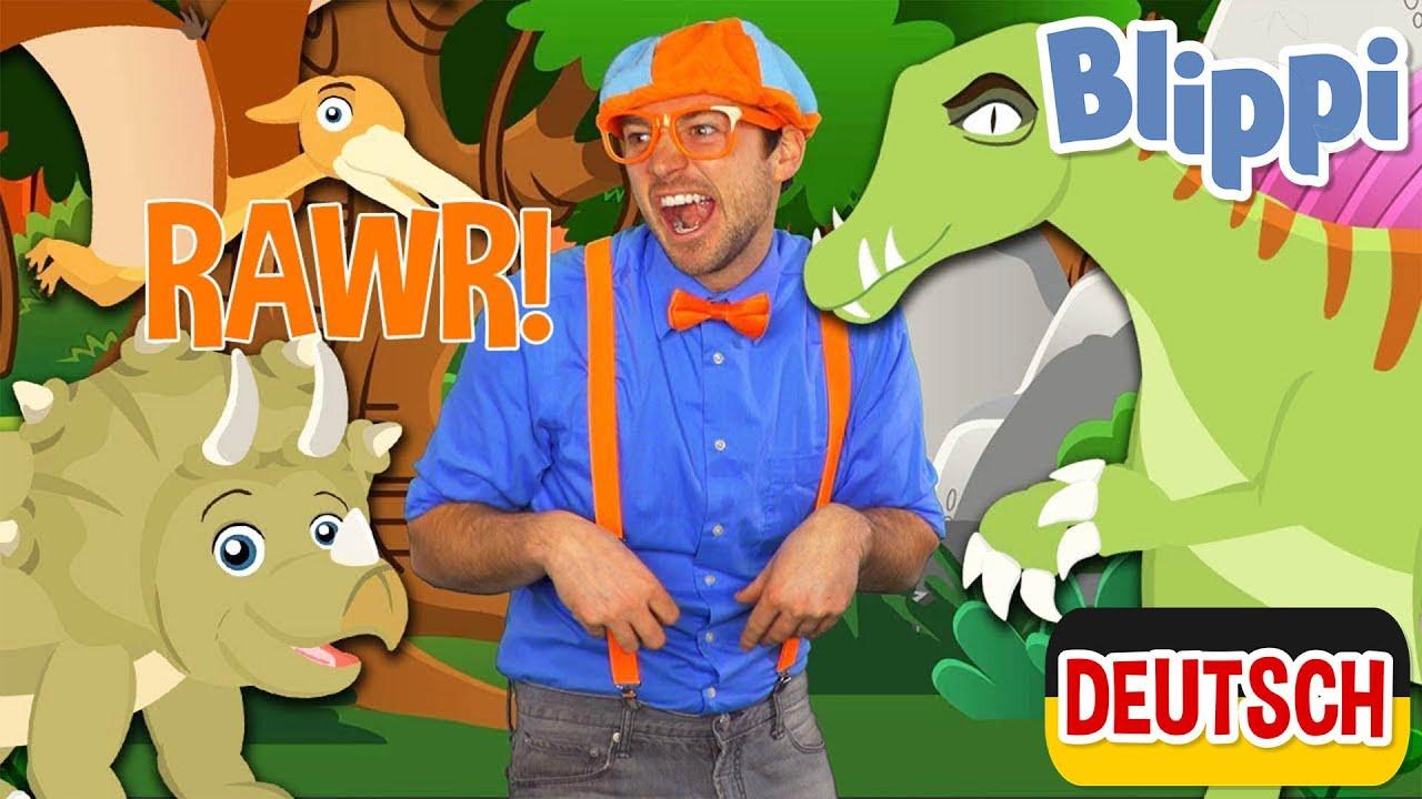 Blippi Deutsch - Lerne Dinosauriernamen | Abenteuer und Videos für Kinder