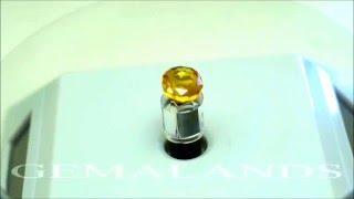 Precioso Zafiro Amarillo Natural de 9,10 Quilates con Talla Ovalada. India