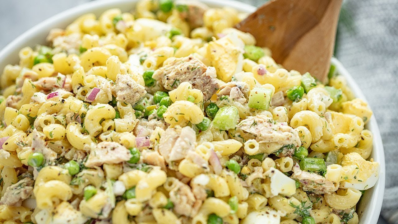 How To Make Tuna Macaroni Salad Youtube