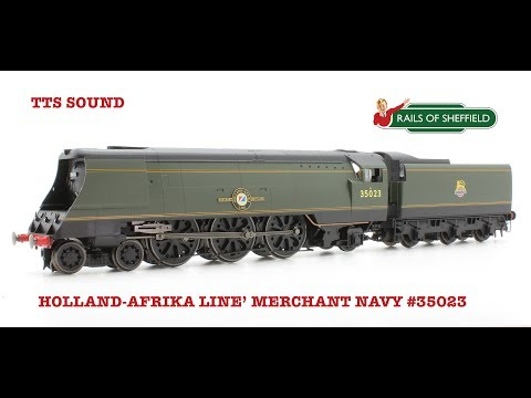 Hornby R3382TTS 'Holland-Afrika Line' Merchant Navy 35023 Locomotive with TTS Sound