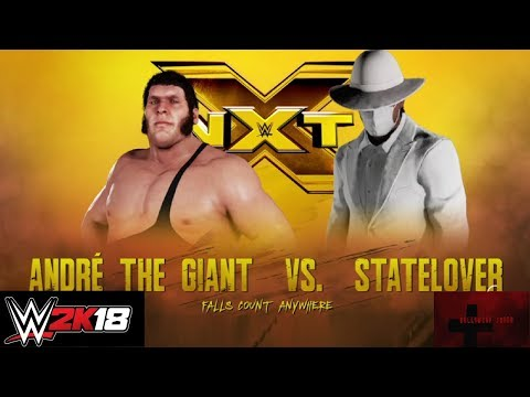 WWE2K18 - Andre the Giant vs Statelover Falls Count Anywhere