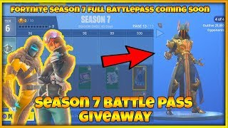 *FREE* FORTNITE SEASON 7 BATTLEPASS | *FREE* VBUCKS & BATTLEPASS GIVEAWAY (FORTNITE SEASON 7)