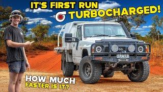 Turbo TD42 Nissan Patrol First Run! | How fast is it?! | IS IT WORTH TURBOCHARGING YOUR OLD 4x4?