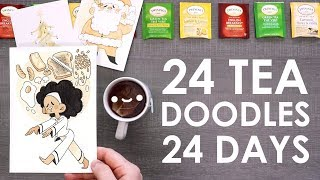 24 DAYS OF DOODLES - Painting With A Tea Advent Calendar