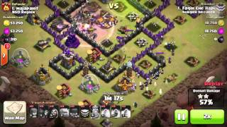 Clash of Clans GOWIWI ATTACK STRATEGY! TH9 max 3 stars!