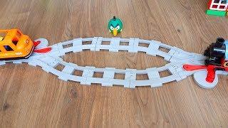 Машинки Игрушки Мультики про Паровозики Город машинок 300: Поезда расходятся. Мультфильм для детей