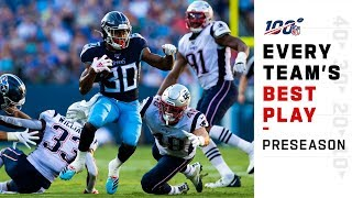 Every Team's Best Play of 2019 Preseason | NFL 2019