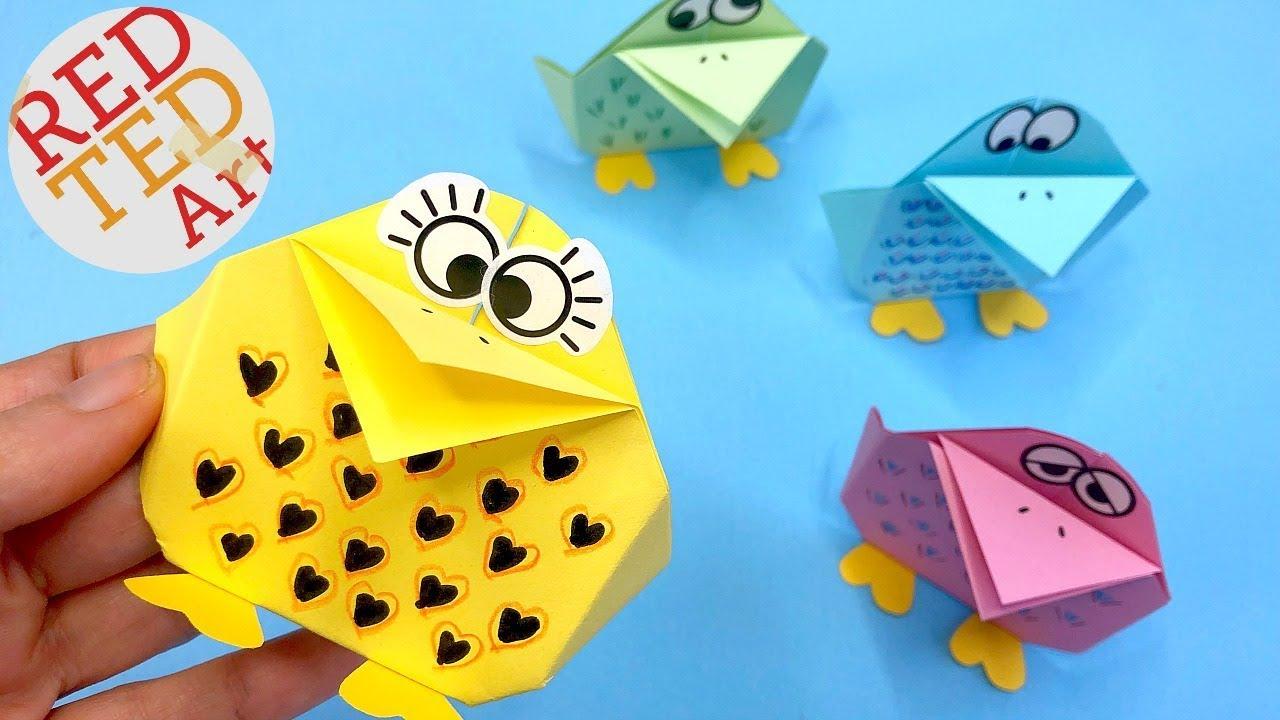 Easy Paper Bird Diy Fun Bird Craft For Spring Youtube
