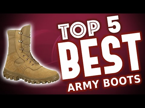 Best Army Boots 2020 [🥇Reviews]
