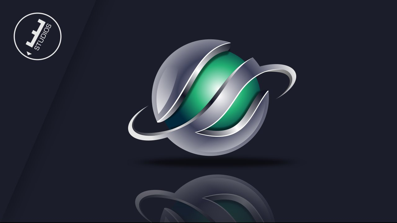 logo logotipo 3d em corel draw 3d logo design youtube