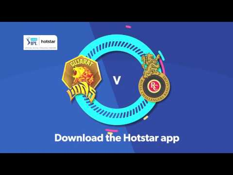 VIVO IPL - Gujarat Lions vs RCB, 24th May, 7 pm onwards on Hotstar