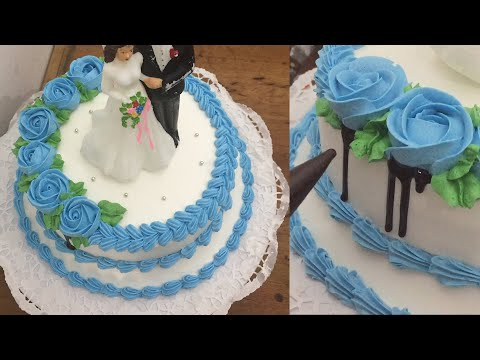 Cara Menghias Kue Wedding, Wedding Cake Seperti 2 Tingkat Bunga Buttercream Lembut Dan Kokoh
