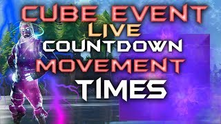 FORTNITE - The Cube Is Moving - Flip Times And Schedules Leaked Map Locations - LIVE Cube Event