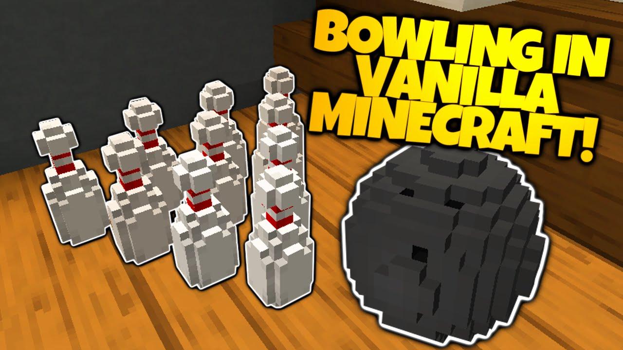 Minecraft BOWLING IN VANILLA MINECRAFT No Mods Needed - Bowling map para minecraft 1 10