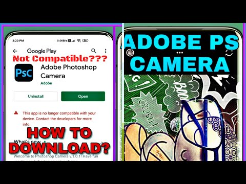 Adobe Photoshop Camera App Download || 100% Compatible On Any Android Devices With Android 9&10