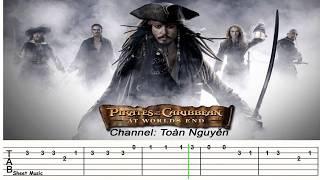 Hướng dẫn đánh bài cướp biễn vùng caribe bằng guitar