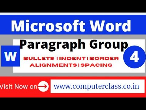 Video 4:  Paragraph group   ms word paragraph group paragraph group in ms word