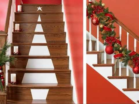 Decoracion De Navidad Para Escaleras Youtube - Decoracion-de-escaleras
