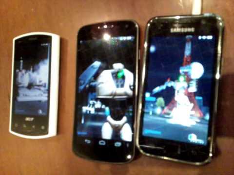 Galaxy Nexus vs Galaxy I9001 vs Acer Liquid A1