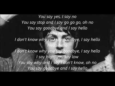 Hello, Goodbye with lyrics by Paul McCartney